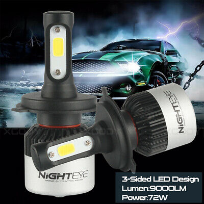 NIGHTEYE H4 9003 HB2 LED Headlight Bulb Light Hi/Lo Beam Kit 6500K HID White 2Pc