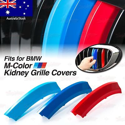 M Sport Tech Performance Kidney Grille 3 Color Cover Insert Clip Trim for BMW AU