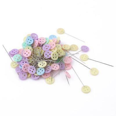 100X Patchwork Pins Butterfly Button Head Pins Quilting Tool Sewing Accessory FW
