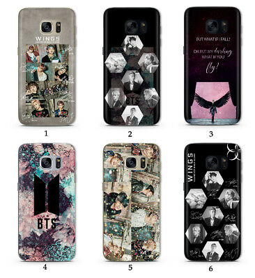 K-POP BTS Army Wings Bangtan Boys HD Print Phone Case Cover For Samsung Galaxy
