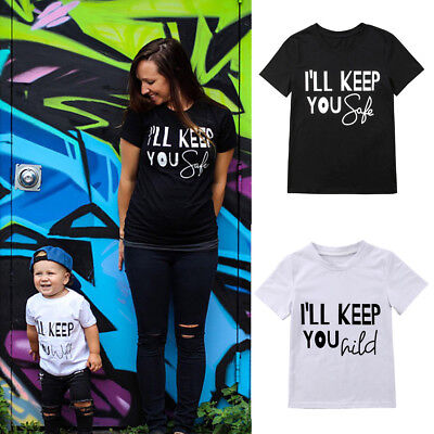 Hot Mother and Son Family Matching Clothes Casual T-shirt Top Blouse Outfits