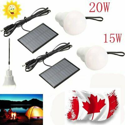 20W  15W Solar Powered LED Rechargeable Bulb Light Outdoor Camping Yard Lamp CA