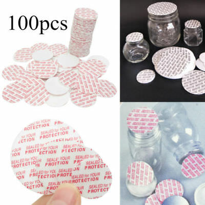 100X 20/24/28/38mm Press Seal Cap Liners Foam Safety Tamper Seals Jar Bottle DE