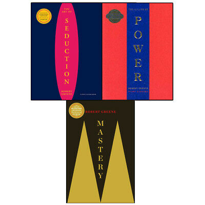 Robert Greene Collection 3 Books Set Mastery Art Of Seduction 48 Laws Of Power