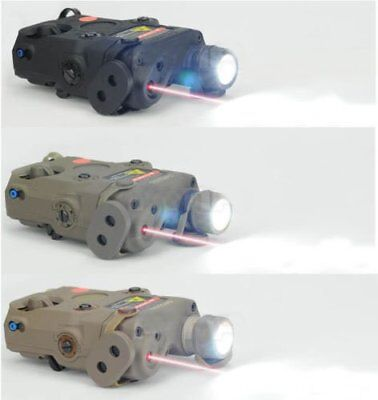 Upgrade Version FMA PEQ-15 LED White Light + Red laser with IR Lens BK/DE/FG HOT