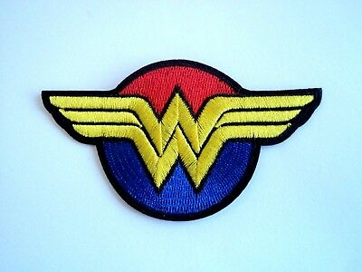 1x Wonder Woman DC Patch Embroidered Cloth Patches Applique Badge Iron Sew On 1