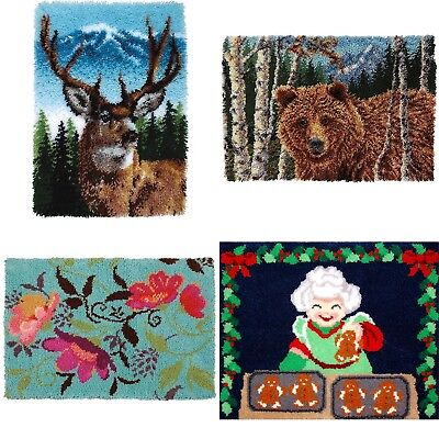 DIY Latch Hook Kit 4 models Needlecrafts Gift 43''  Rug Cute Animals
