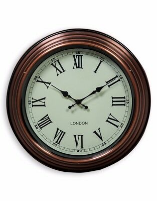 """Small Vintage Copper with Cream Face """"London"""" Wall Clock"""