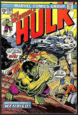 Incredible Hulk #180 1st App Wolverine (Cameo) (Stamp Present) FN+