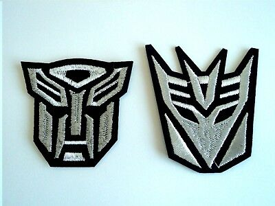 1x Metallic Transformers Patches Embroidered Cloth Applique Badge Iron Sew On