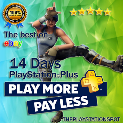 Ps Plus 14 Days Ps4 Ps3 Ps Vita - Fast Delivery - Sent Now