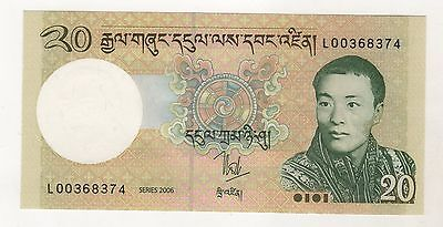 Bhutan 20 Ngultrum ND 2006 Pick 30 UNC Uncirculated Banknote