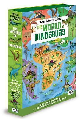 The World of Dinosaurs Book&Puzzle - Junior Free Shipping!