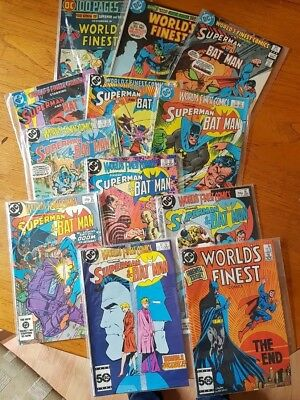 DC Comics World's Finest 12 Comic Bundle Superman and Batman