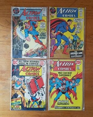 DC Comics Action Comics Superman 1970s 398 410 414 418