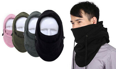 Winter Thermal Fleece Hat 6 in 1 Balaclava Mask Hood Unisex Sports Ski Mask UK!!