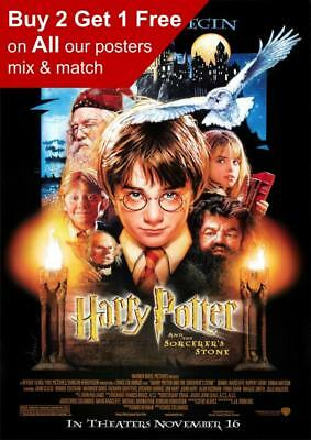 Harry Potter And The Sorcerer's Stone Movie Poster A5 A4 A3 A2 A1
