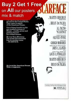 Scarface Movie Poster A5 A4 A3 A2 A1