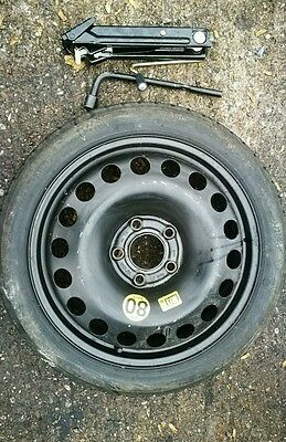 "Opel Corsa D (5 Bolts) 2008-2017 16"" Spare Wheel & Tyre, Jack, Wheel Spanner"