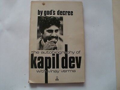 Signed Book Kapil Dev By Gods Decreeautobiography India Cricket