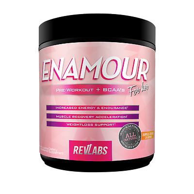 RevLabs ENAMOUR Pre-workout For Her, 3-in-1 with added BCAA, CLA And L-Carnitine