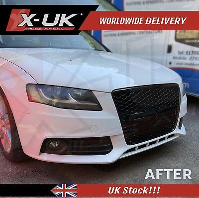 "Front grill gloss black for AUDI A4 / S4 ""B8"" 2008-2012"