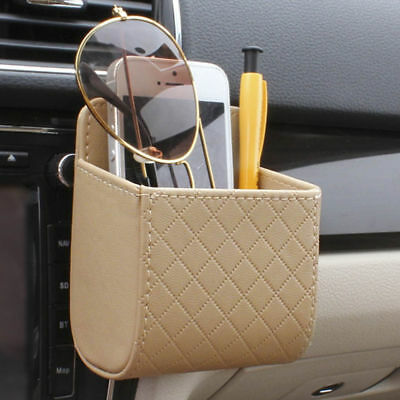 Air Vent Car Holder Mount Auto Phone Storage Beige