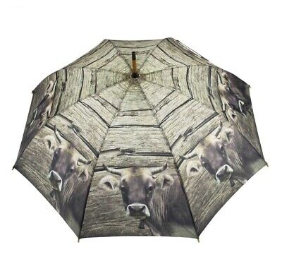 Umbrella Cow with Cow Bell Umbrella Traditional Costume Oktoberfest Alm Umbrella