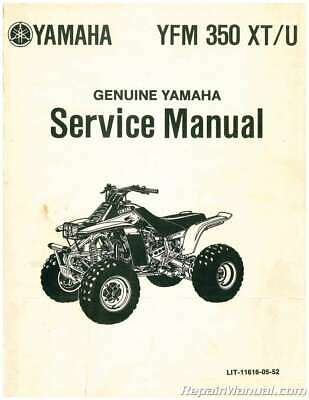 Used 1986-1987 Yamaha YFM350X Warrior ATV Service Manual