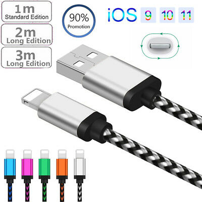 UGI 1M 2M 3M Fast Charger USB Data Cables Charging Cord For iPhone 6s 7 8 Plus