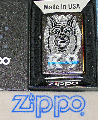 ZIPPO POLICE K-9 Lighter GERMAN SHEPHERD New  MINT In BOX