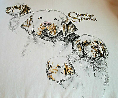 "Clumber Spaniel T-shirt  "" Ash ""  Medium  ( 38 ~ 40 )"