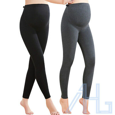 Womens Ladies Thick Comfortable Maternity Cotton Leggings Full Length PREGNANCY