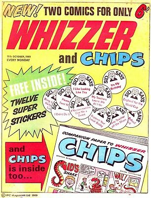Uk Comics Whizzer & Chips Collection 300+ Comics On Dvd