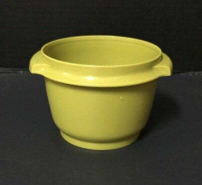 Vintage TUPPERWARE Avocado Green SERVALIER 20 Oz BOWL CANISTER No Lid #886