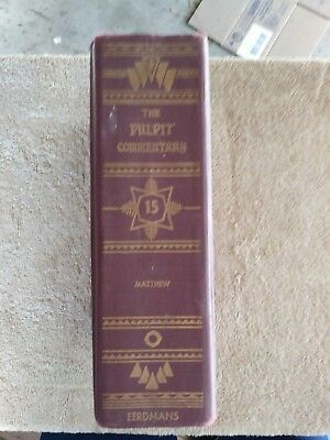 Pastors Pulpit Bible Commentary Volume 15 Matthew 0-8028-8072