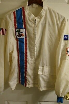 Vintage Ford Mustang Shelby Cobra Gt Racing Lightweight Jacket L Rare Patches