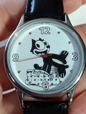 Men's 2005 Felix The Cat Watch - Black Leather Like Band