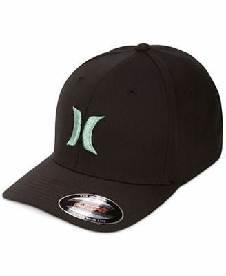 cheap for discount d4385 82e36 NEW MENS HURLEY one   only BW FLEXFIT HAT CAP BLACK LARGE   X-LARGE