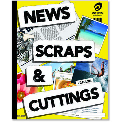 Olympic News, Scraps & Cuttings Scrapbook 400 x 325mm 72 Page 140899