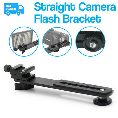 "1/4""-20 Screw Hot Shoe Mount 6.3"" Straight Camera Flash Bracket for Studio"