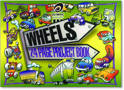Olympic Wheels Project Book 8mm Ruled and Plain Pages 273 x 375mm 24 Page 140850