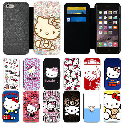 e9cc4ce6c Cartoon Hello Kitty Flip PU Leather Wallet Phone Case Cover For Apple iPhone