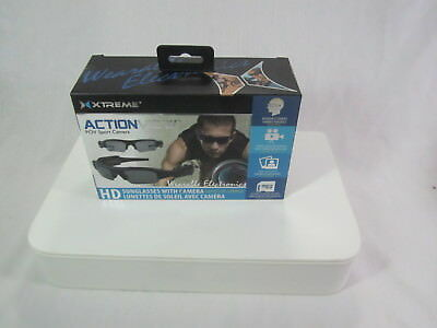 New Xtreme HD Smart Sunglasses Camera Xtreme Cables Action View POV Sport Video