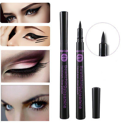 2Pc Liquid Eye Liner Pen Pencil Black Waterproof Eyeliner Makeup Beauty Cosmetic