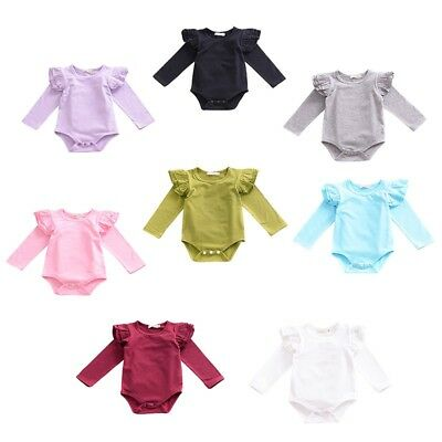 AU 0-24M Girl Romper Newborn Baby Clothes Girls Long Sleeve Jumpsuit Kids Outfit