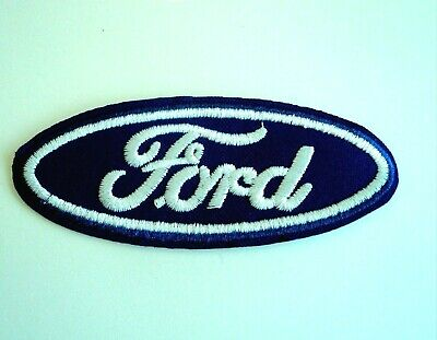 1x Ford Logo Car Patch Embroider Cloth Patches Applique Badge Iron Sew On