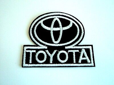 1x Toyota Logo Car Patch Embroidered Cloth Patches Applique Badge Iron Sew On