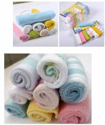 Setof 8 New Born Baby Kids Cotton Bath Face Wash Cloths Bibs Towel 21*21 SOFT