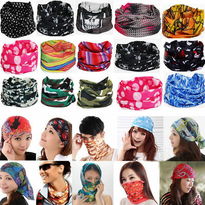 Bandana Tube Scarf Head Face Mask Neck Warmer Snood Animal Camo Skull Headwear